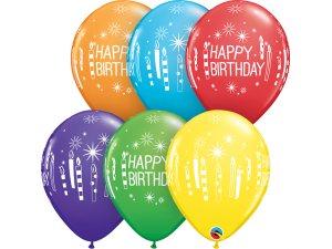 """Balónek Qualatex 11""""  Narozeninové svíčky (25ks v sáčku)"""