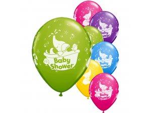 """Balónek Qualatex 11"""" Baby shower sloník (25ks v balení)"""