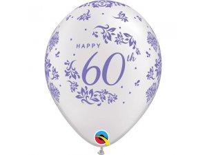 """Balónek Qualatex 11"""" potisk 60. výročí svatby (6ks v balení)"""