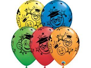 "Balónek Qualatex 11"" Usměvavé obličeje Maturita (25ks v sáčku)"