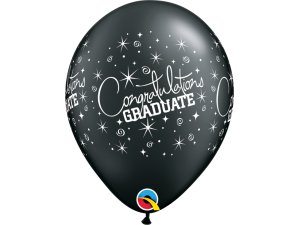 """Balónek Qualatex 11"""" potisk Gratulujeme k maturitě! (6ks v balení)"""