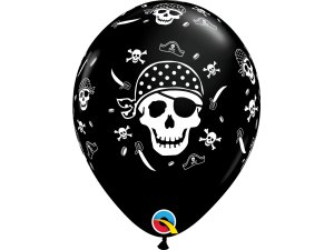 "Balónek Qualatex 11"" potisk ""Pirát"" (6ks v balení)"