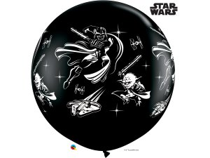 3'  Balón Qualatex STAR WARS: DARTH VADER & YODA