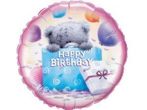 "18"" foliový balónek kruh - Tatty TEDDY 1. narozeniny"