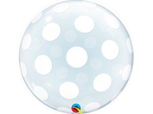 """22"""" DECO bublina - bílé puntíky"""