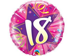 """18"""" foliový balónek kruh - Růžové narozeniny 18"""