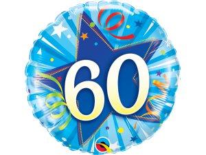 "18"" foliový balónek kruh - Modré narozeniny 60"