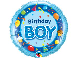 "18"" foliový balónek kruh - Narozeninový chlapec"