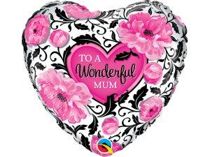 """18"""" foliový balónek kruh - Pro úžasnou maminku - květinový"""