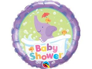 "18"" foliový balónek kruh - Baby shower slon"