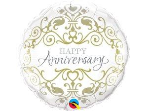 """18"""" foliový balónek kruh - Šťastné výročí"""