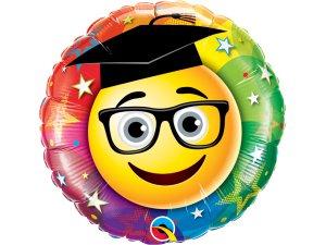 "18"" foliový balónek kruh - Usměvavý absolvent"