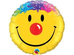"18"" fóliový balónek kruh - Usměvavý klaun"