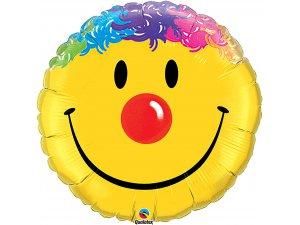 """36"""" foliový balónek kruh - Usměvavý klaun"""