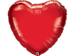 """36"""" srdce červené"""