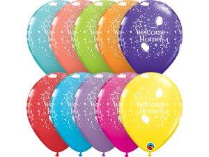 """Balónek Qualatex 11"""" potisk Vítej doma"""" (6ks v balení)"""