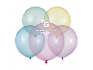"""Balónek 48cm/19""""  Krystalový duhový mix"""