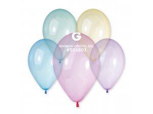 """Balónek 33cm/13""""  Krystalový duhový mix"""