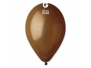 """Balónek 33cm/13"""" #048 hnědý ZIP BAGS"""