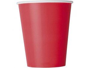 Kelímky papírové - rubínově červené, 8ks