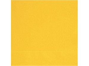 Papírové ubrousky žluté dvouvrstvé, 20ks