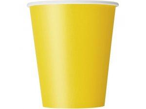 Kelímky papírové - žluté, 8ks