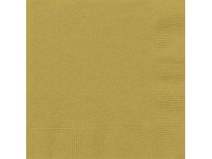 Papírové ubrousky zlaté dvouvrstvé, 20ks