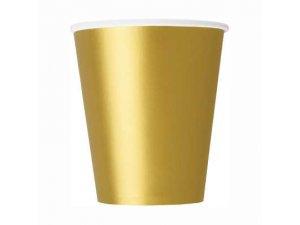 Kelímky papírové - zlaté, 8ks