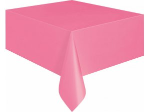 Ubrus plastový růžový 1.37x2.74m