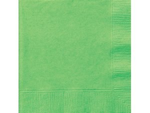 Papírové ubrousky limetkově zelené dvouvrstvé, 20ks