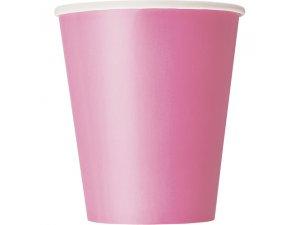 Kelímky papírové - růžové, 8ks