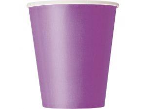 Kelímky papírové - fialové, 8ks