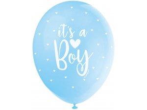 """Balónek pastel 30cm potisk """"It´s a boy!"""" 5ks"""