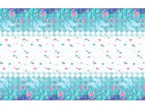 Ubrus plastový - Mořská víla 1.37x2.74m