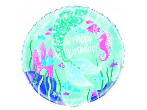 """18"""" foliový balónek kruh - Mořská víla"""