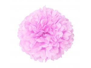 Dekorační závěsný pom pom světle růžový, 40cm