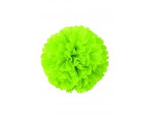 Dekorační závěsný pom pom limetkově zelený, 40cm