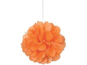 Dekorační závěsné pom pomy oranžové 3ks, 23cm