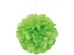 Dekorační závěsné pom pomy limetkově zelené 3ks, 23cm
