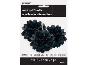 Dekorační závěsné pom pomy černé 3ks, 23cm - 642202.jpg