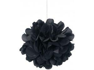Dekorační závěsné pom pomy černé 3ks, 23cm