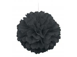 Dekorační závěsný pom pom černý, 40cm
