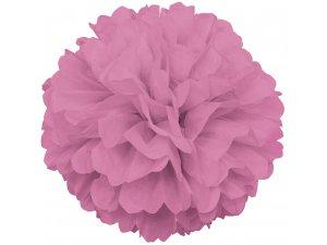 Dekorační závěsný pom pom růžový, 40cm