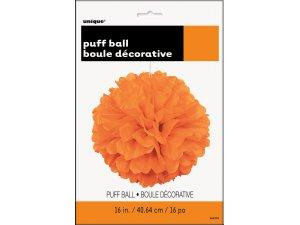 Dekorační závěsný pom pom oranžový, 40cm - 64276.jpg2.jpg