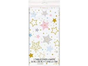 Ubrus plastový - Hvězdy 1.37x2.13m