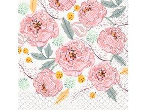 Papírové ubrousky dvouvrstvé - Květiny, 16ks