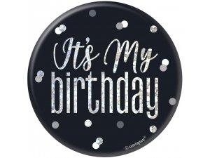 """Narozeniná brož """"Its my birthday"""" černá s tečkami - 835032.jpg"""