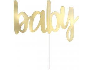 """Dortová ozdoba """"baby"""" zlatá"""