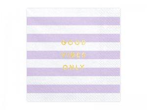 """Papírové ubrousky """"Good vibes only"""" 20ks"""