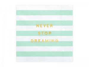 """Papírové ubrousky """"Never stop dreaming"""" 20ks"""
